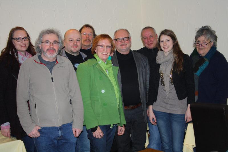 Mitglieder der Engeraner Grünen mit Anika Hüting (2. von rechts)