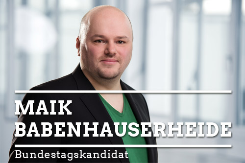 Maik Babenhauserheide – Bundestagskandidat